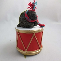 Porcupine Drum Ornament