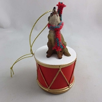 Coyote Drum Ornament