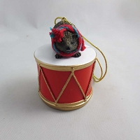 Hedgehog Drum Ornament