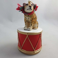 Jaguar Drum Ornament