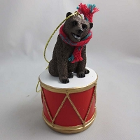 Bear Grizzly Drum Ornament