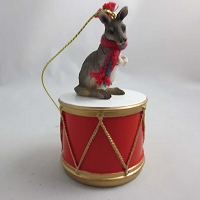 Kangaroo Drum Ornament