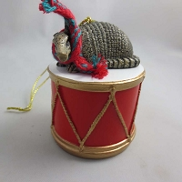 Armadillo Drum Ornament