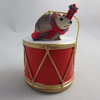 Mouse Drum Ornament