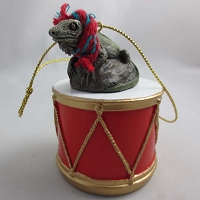 Iguana Drum Ornament