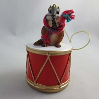 Chipmunk Drum Ornament