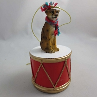 Cheetah Drum Ornament