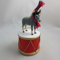 Donkey Drum Ornament
