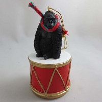 Gorilla Drum Ornament