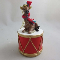 Giraffe Drum Ornament
