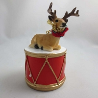 Deer Buck Drum Ornament