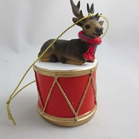 Elk Bull Drum Ornament