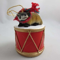 Badger Drum Ornament