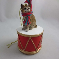 Bobcat Drum Ornament