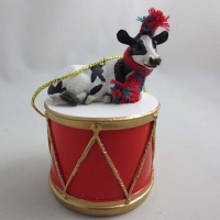 Holstein Cow Drum Ornament