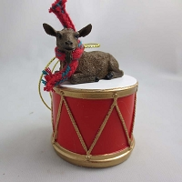 Goat Brown Drum Ornament