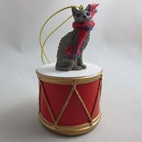 Cornish Rex Blue Drum Ornament