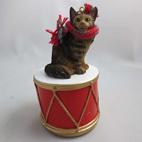 Maine Coon Brown Tabby Drum Ornament