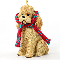 Poodle Apricot w/Sport Cut Original Ornament, Large