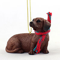 Dachshund Red Original Ornament, Large