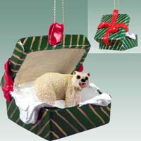 Bear Polar Gift Box Green Ornament