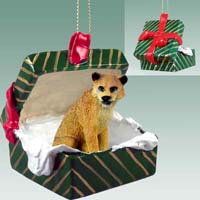 Lioness Gift Box Green Ornament