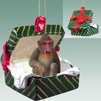 Mandrill Gift Box Green Ornament