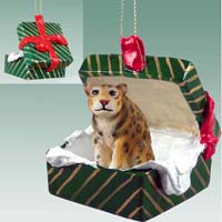 Jaguar Gift Box Green Ornament