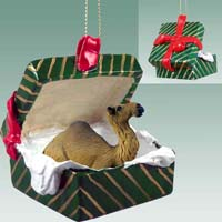 Camel Dromedary Gift Box Green Ornament
