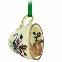 Camel Bactrian Tea Cup Green Holiday Ornament