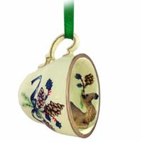 Camel Dromedary Tea Cup Green Holiday Ornament