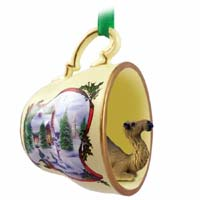 Camel Dromedary Tea Cup Snowman Holiday Ornament