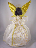 Poodle Black Doogie Collection Angel Tree Topper