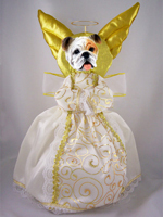 Bulldog White Doogie Collection Angel Tree Topper