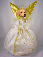 Golden Retriever Doogie Collection Angel Tree Topper