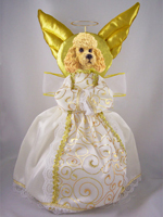 Poodle Apricot w/Sport Cut Doogie Collection Angel Tree Topper
