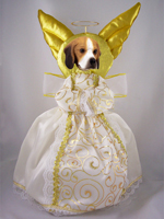 Beagle Doogie Collection Angel Tree Topper