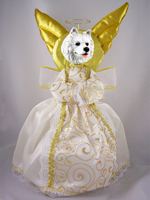 Samoyed Doogie Collection Angel Tree Topper