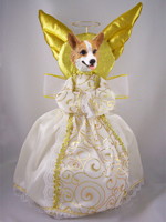 Welsh Corgi Pembroke Doogie Collection Angel Tree Topper