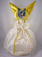 Norwegian Elkhound Doogie Collection Angel Tree Topper