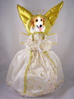 Borzoi Doogie Collection Angel Tree Topper