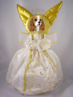 Cavalier King Charles Spaniel Brown & White Doogie Collection Angel Tree Topper