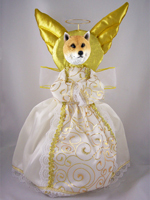 Shiba Inu Doogie Collection Angel Tree Topper