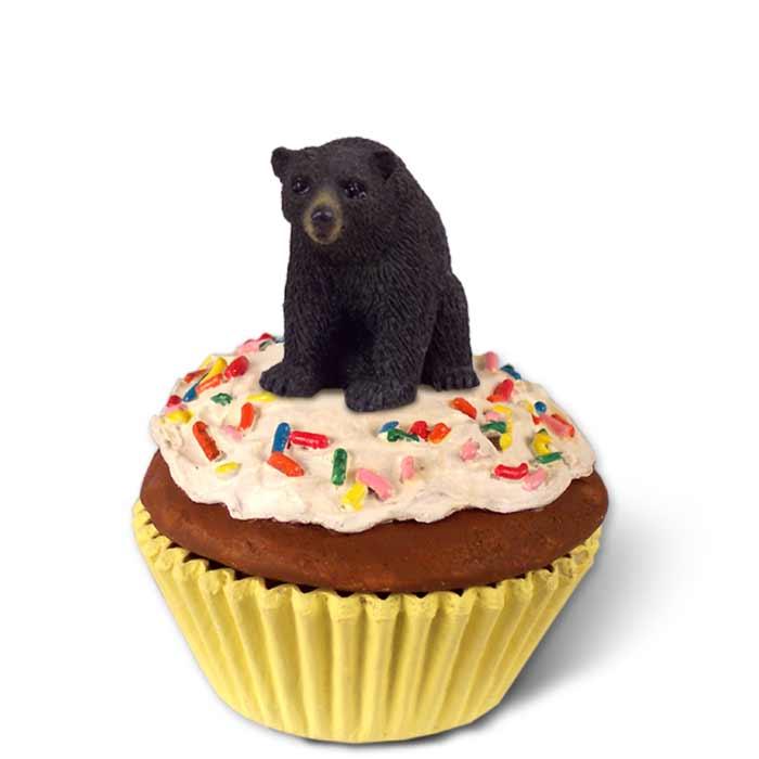 bear black cupcake trinket box