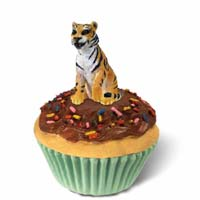 Tiger Cupcake Trinket Box