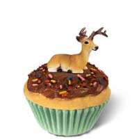 Deer Buck Cupcake Trinket Box
