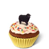 Sheep Black Cupcake Trinket Box