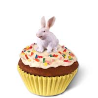 Rabbit White Cupcake Trinket Box