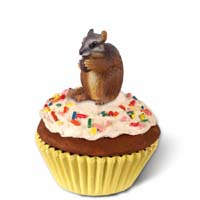 Chipmunk Cupcake Trinket Box