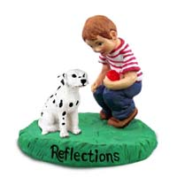 Dalmatian Reflections w/Boy Figurine